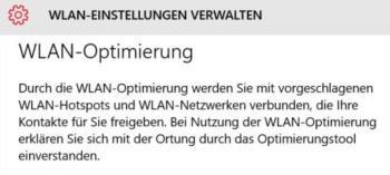 WLAN-Optimierung unter Windows 10