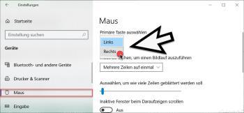 Als Linkshänder die Maustasten unter Windows 10 tauschen