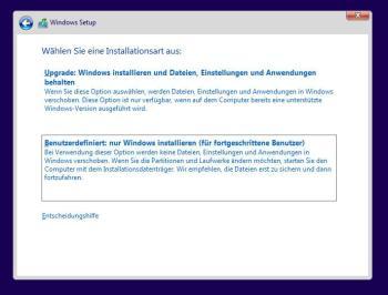 Windows 10 bei dem Fehler INACCESSIBLE BOOT DEVICE neu installieren