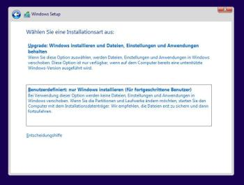 Windows 10 bei dem Fehler INACCESSIBLE BOOT DEVICE neu installieren