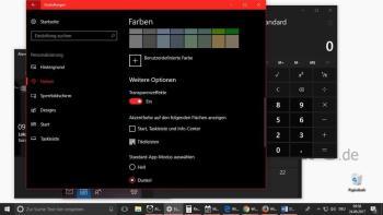 Das Design unter Windows 10 ändern