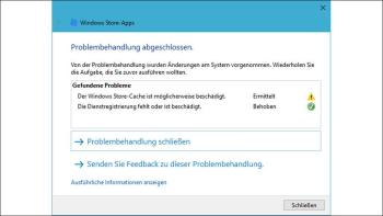 Windows 10: Probleme mit App Store