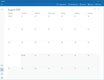 iOS- und Windows 10-Kalender