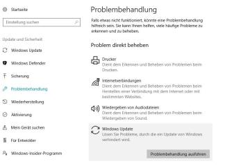 Windows-Update: Fehler beheben