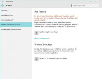 Windows 10: Neuer Benutzer