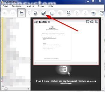 PDF in JPG konvertieren mit dem PDF24 Creator