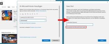 Windows 10: Melden Sie sich mit dem lokalen Konto an