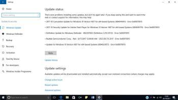 0x80070015: Fehler während eines Updates in Windows 10