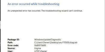 Der Fehlercode 0x800706be erscheint manchmal in Windows 10