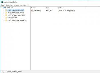 Windows 10: Registry starten