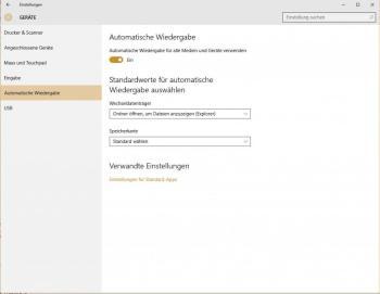 Automatische Wiedergabe in Windows 10 ausschalten
