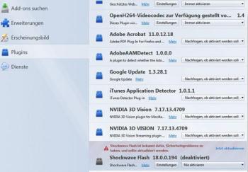 Mozilla Firefox - Flash Player deaktivieren