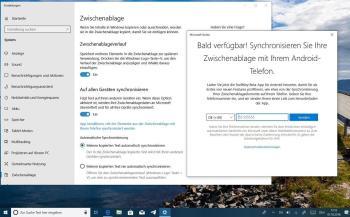 Zwischenablage von Windows 10 in der Cloud