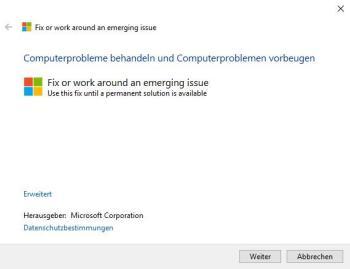 Windows 10: Problembehandlung