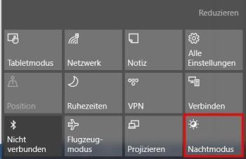Windows 10: Nachtmodus aktivieren