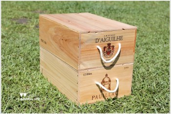 露營 | 開箱-收納x擺飾.紅酒木箱DIY後製處理工作分享