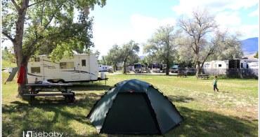 加拿大 露營。Kamloops RV Park.寬敞舒適的Tent搭帳Kamloops中繼營地