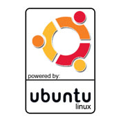 Powered By Ubuntu Logo