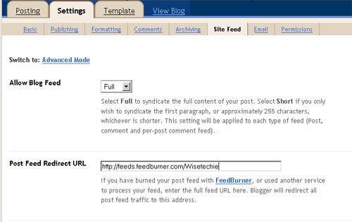 Blogger Feed shifting Feedburner