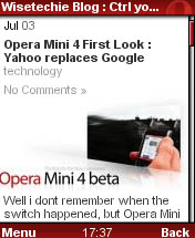 Opera Mini 3 Screenshot