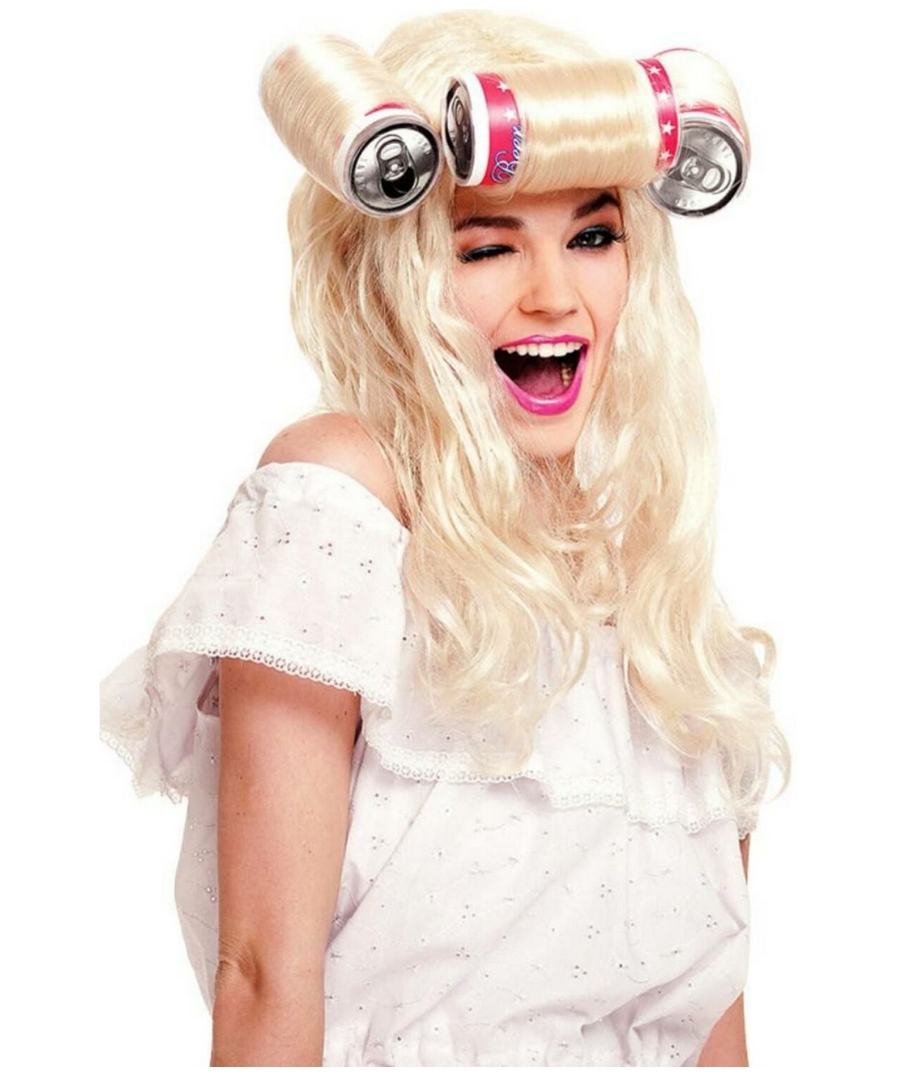 Adult Beer Can Curlers Wig Women Halloween Costumes