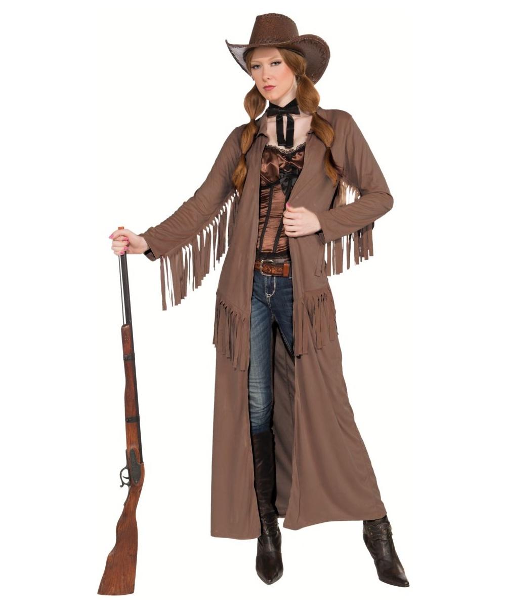 Adult Cowboy Coat Costume Women Cowgirl Costume