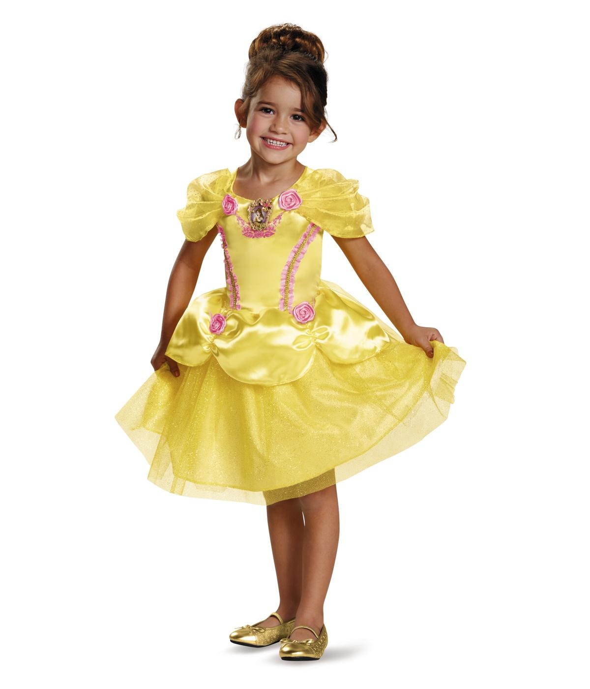 Disney Princess Belle Classic Girls Dress Costume
