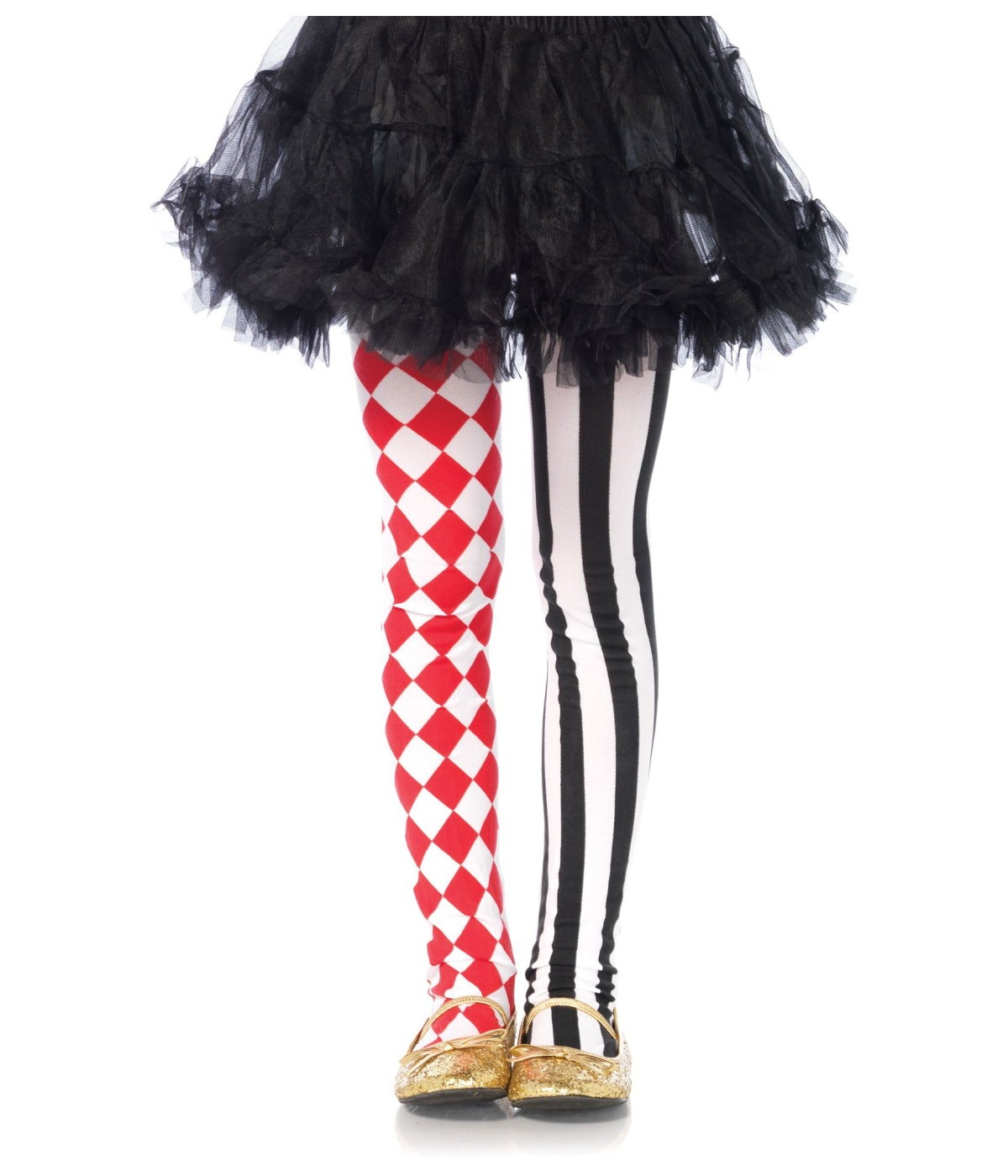 Black And White Clown Costumes Girls