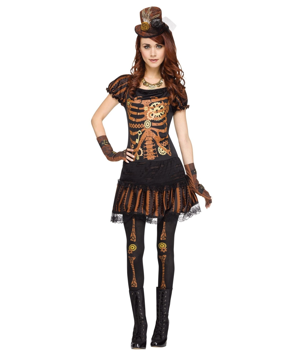 Steampunk Skeleton Womens Costume