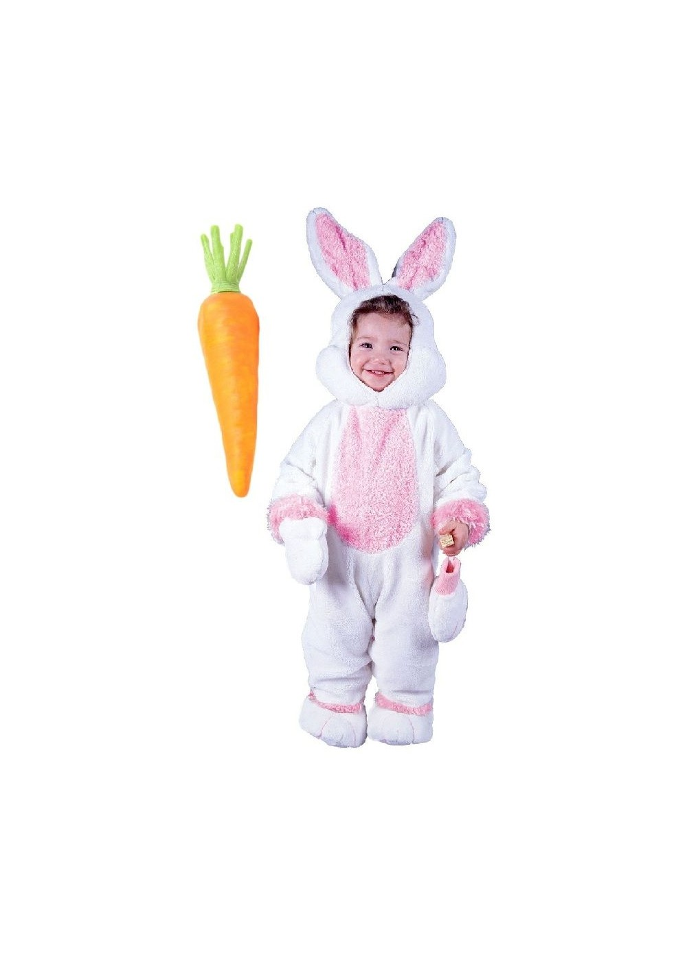 Easter Bunny Baby And Carrot Prop Costume Kit Animal