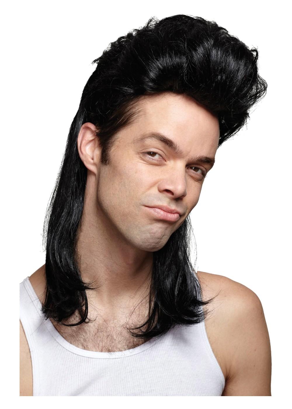 Nightclub Mullet Black Wig Wigs