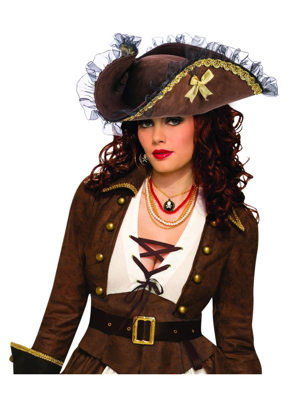 Brown Female Pirate Hat Pirate Costumes