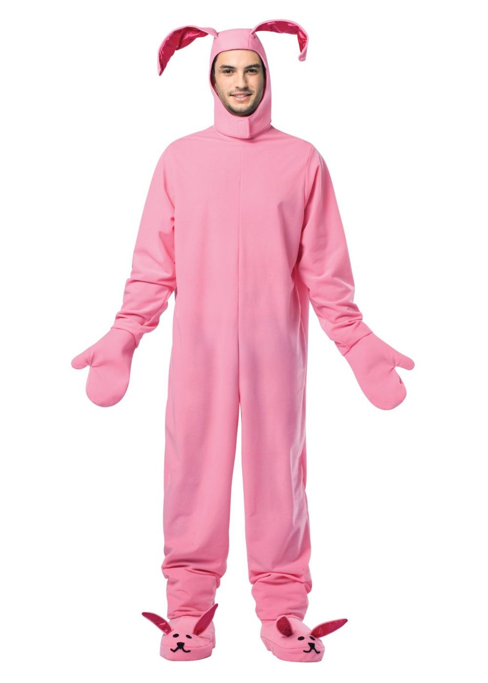 Mens Pink Bunny Costume Animal Costumes