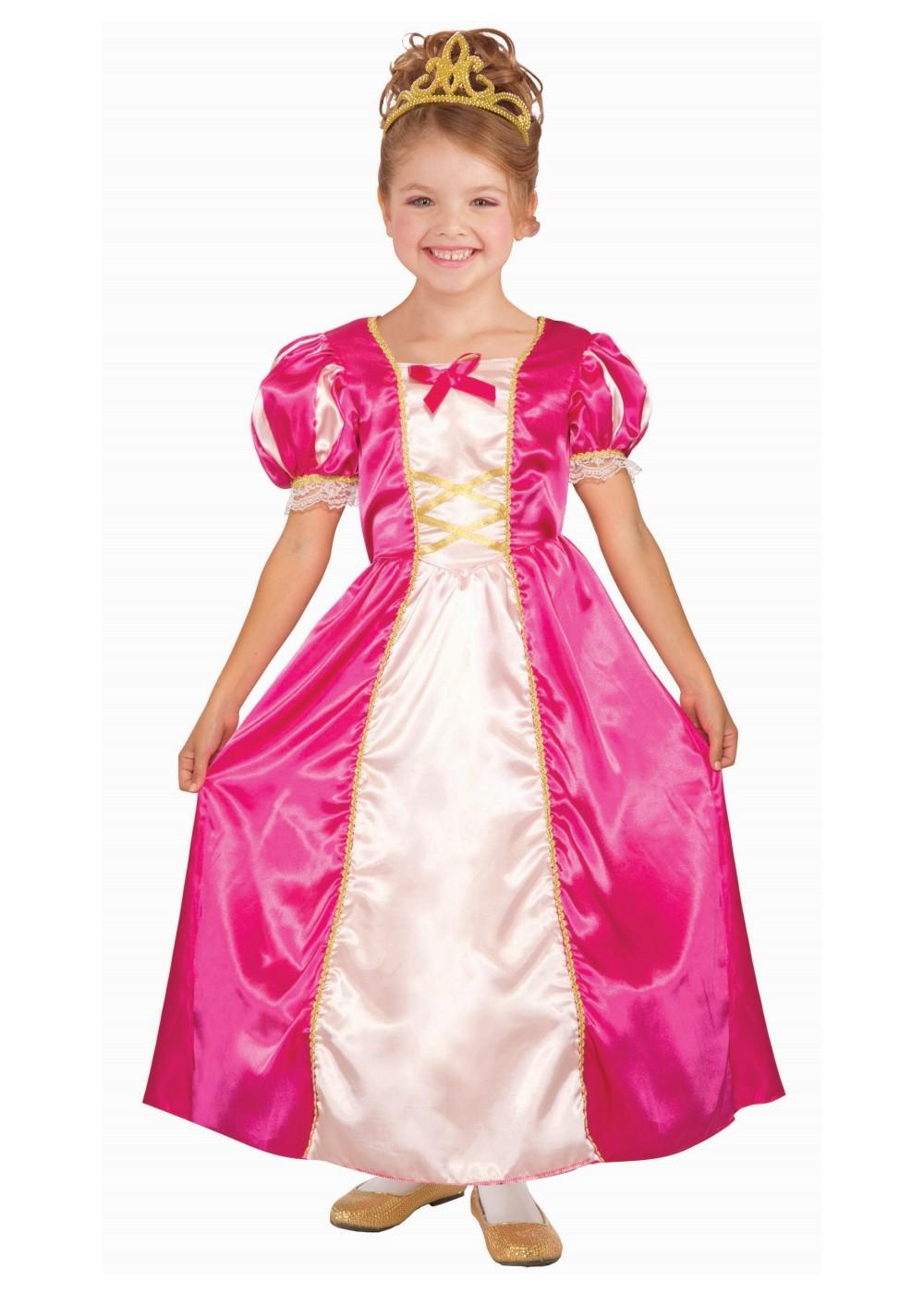 Girls Pink Princess Costume Princess Costumes