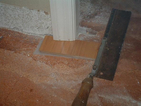 Under Cutting Door Jambs With A Hand