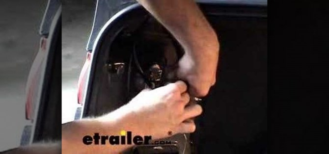 how to install a trailer wiring harness on a toyota camry