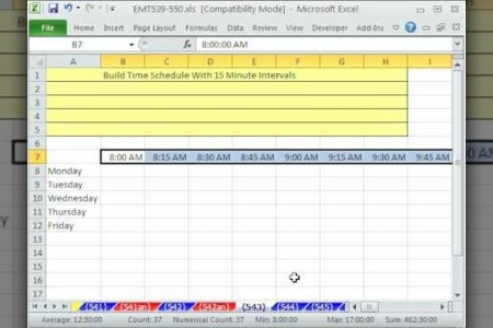 excel 15 minute schedule template   Gotta yotti co excel