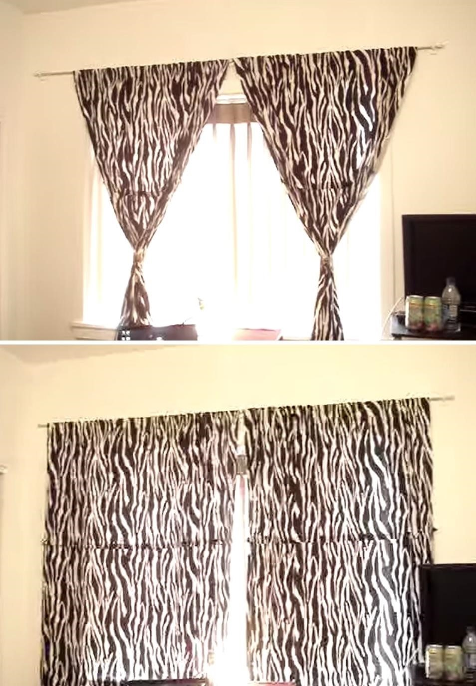 Hang Pictures Without Holes In Wall Part - 45: How To Hang Curtains Without Making Holes In The Wall Interior
