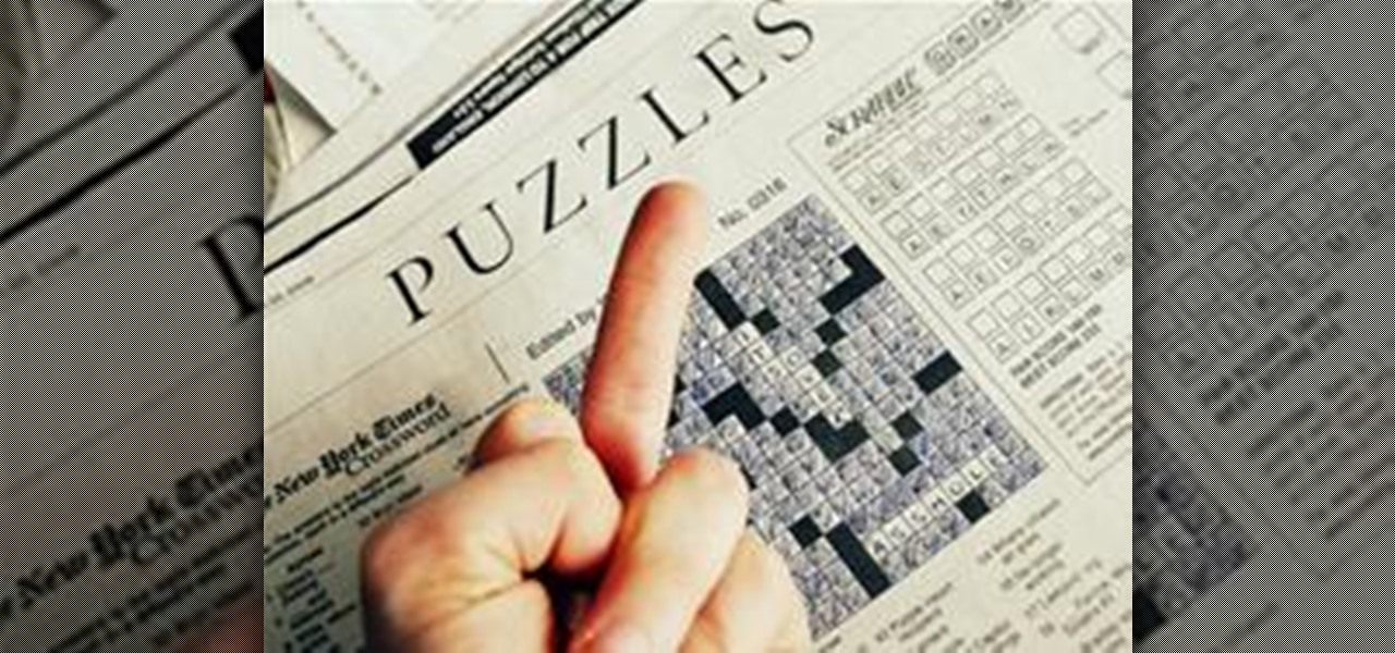 How to Dominate the New York Times Crossword Puzzle « Puzzles ...
