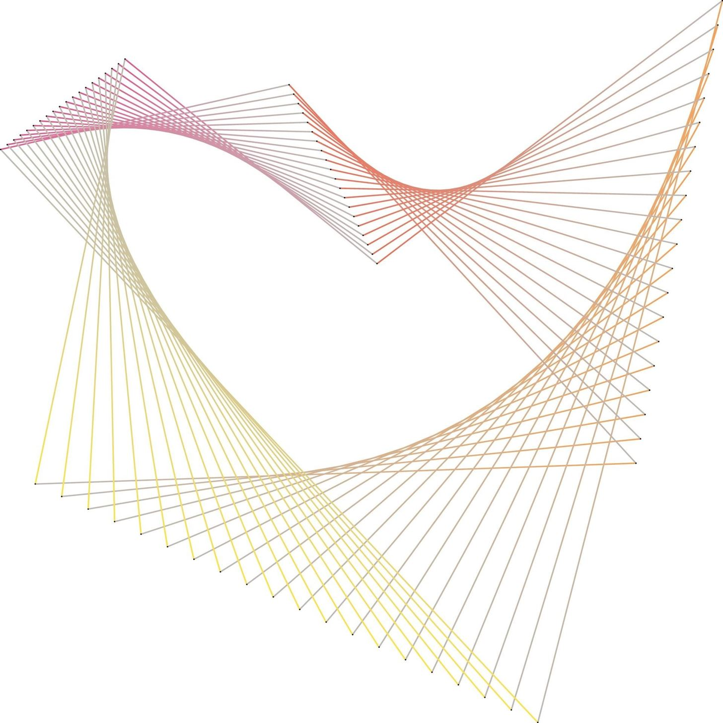 How To Create Parabolic Curves Using Straight Lines Math