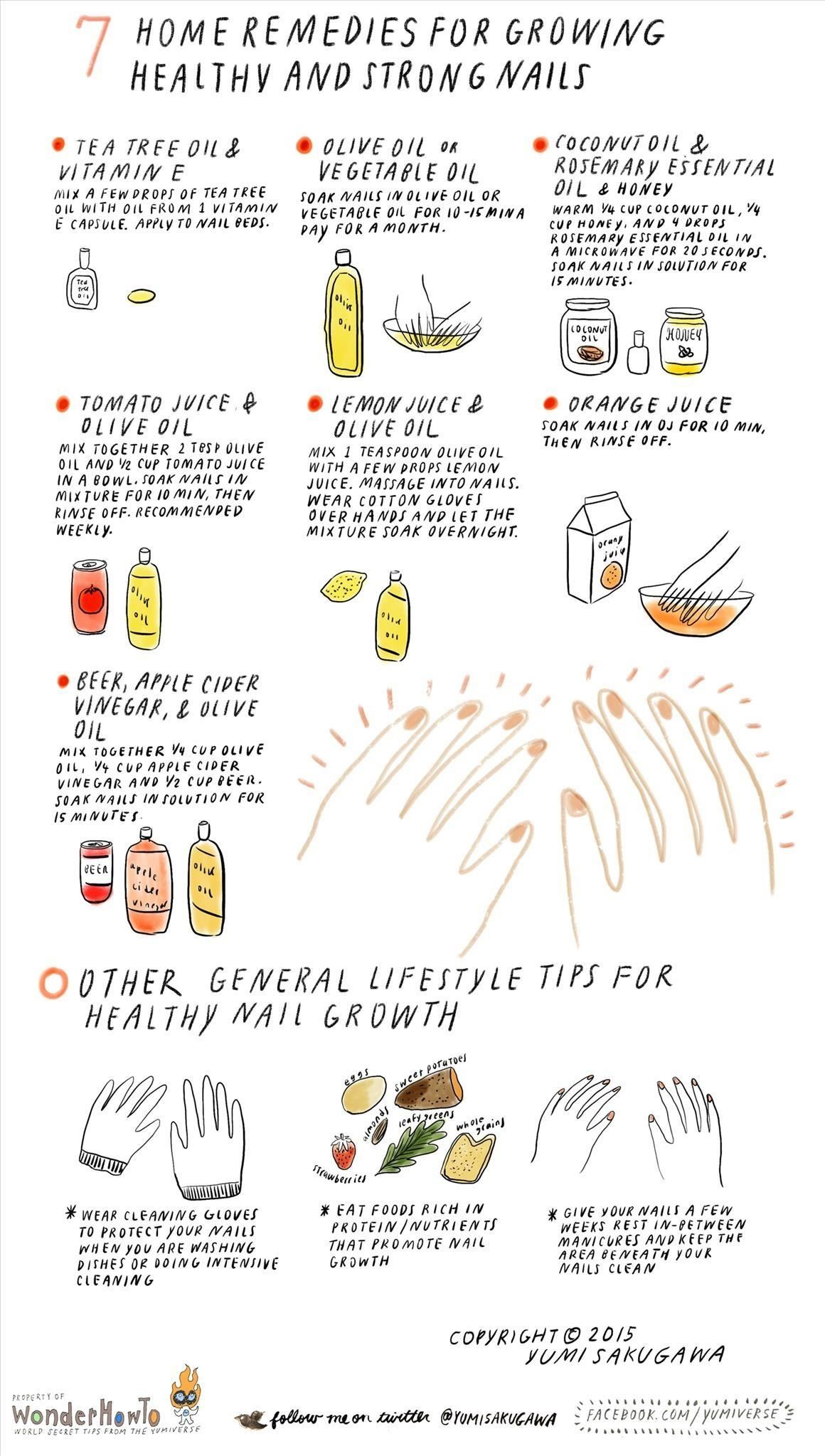 7 Home Remedies For Growing Healthy Strong Nails The