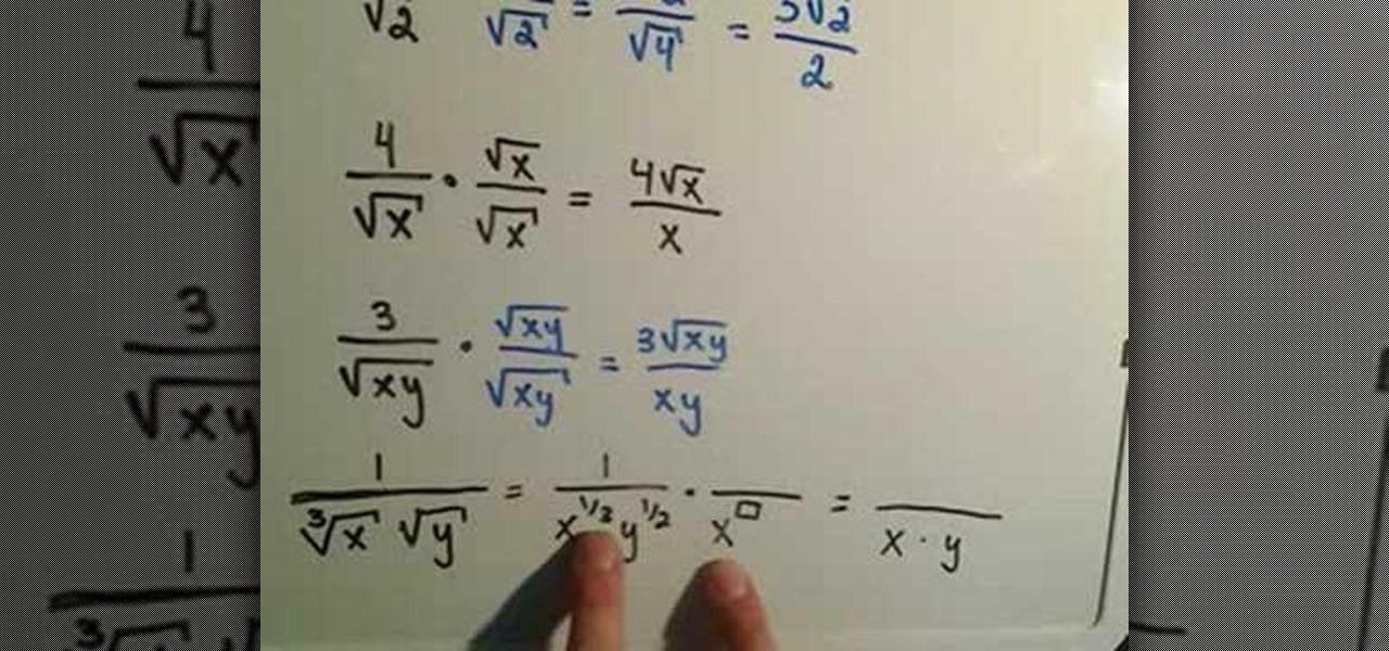 How To Rationalize The Denominator Math Wonderhowto