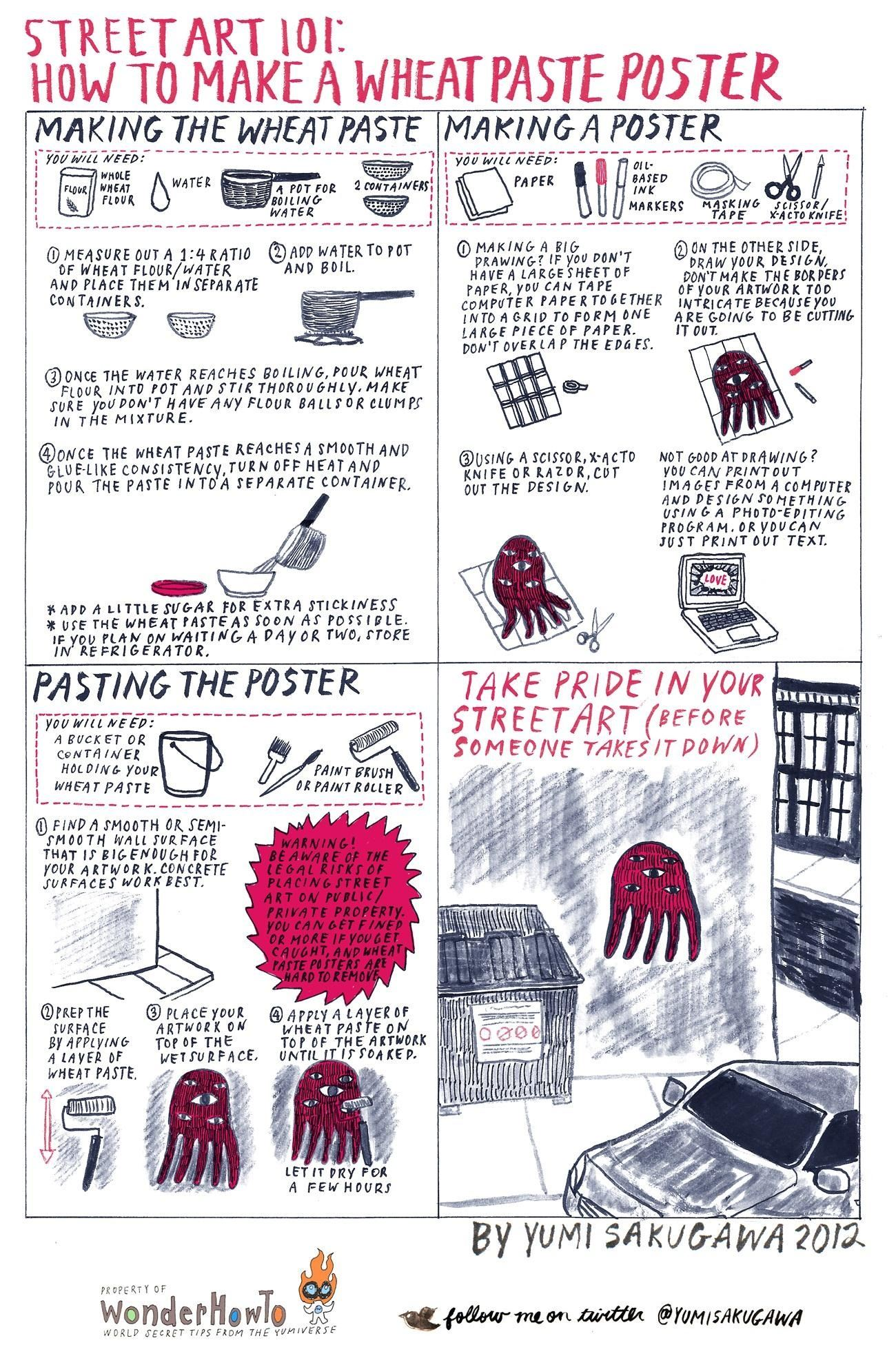 Street Art 101 How To Make A Wheatpaste Poster The