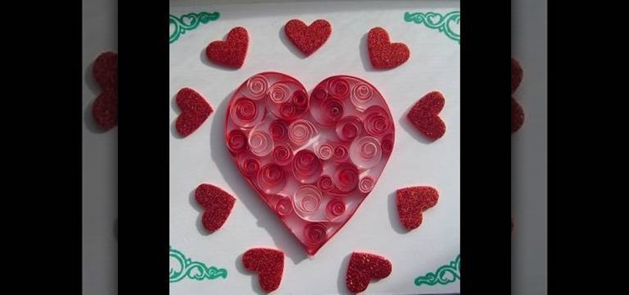 How To Craft A Super Easy Quilled Valentines Day Heart