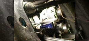 How to Remove the alternator from a Saturn SSeries car