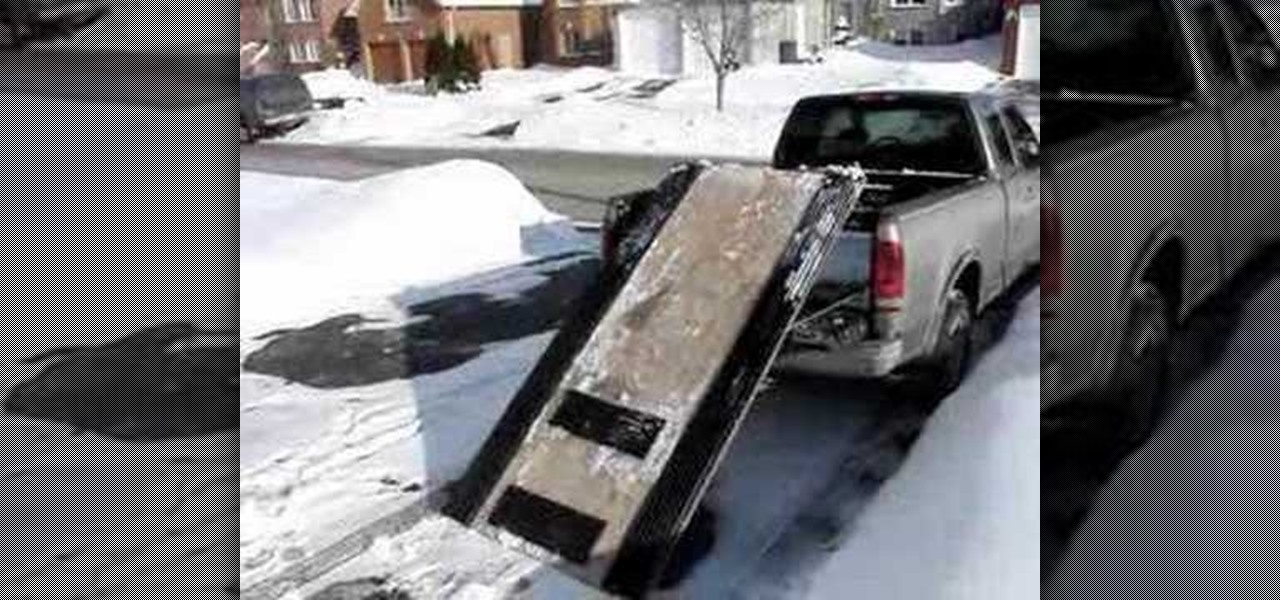 how to use a ramp to load a snowmobile