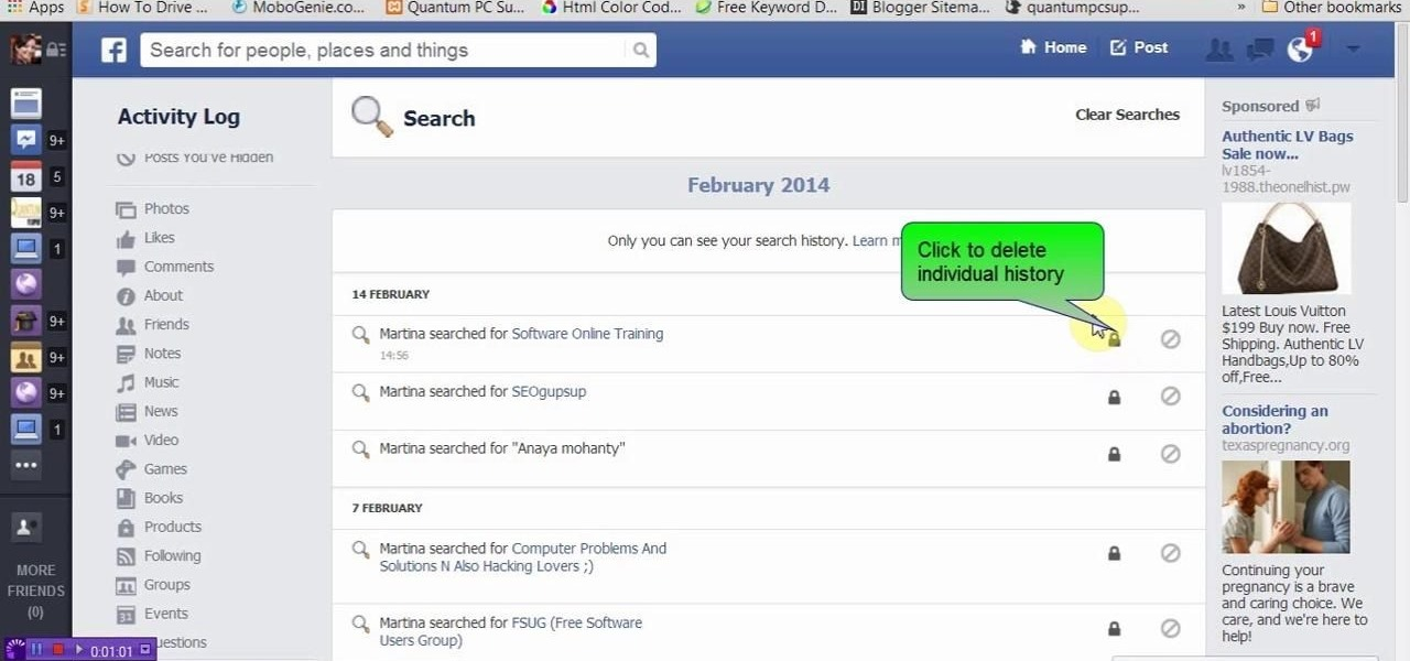 How To View Or Delete Facebook Search History « Internet