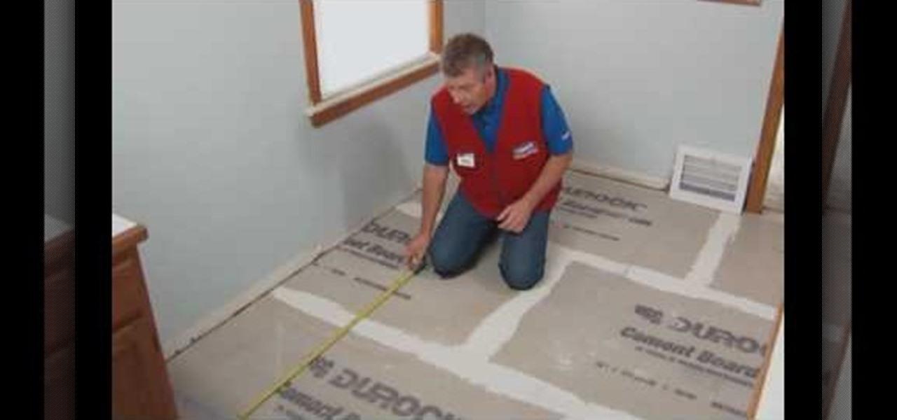 ceramic or porcelain tile floor
