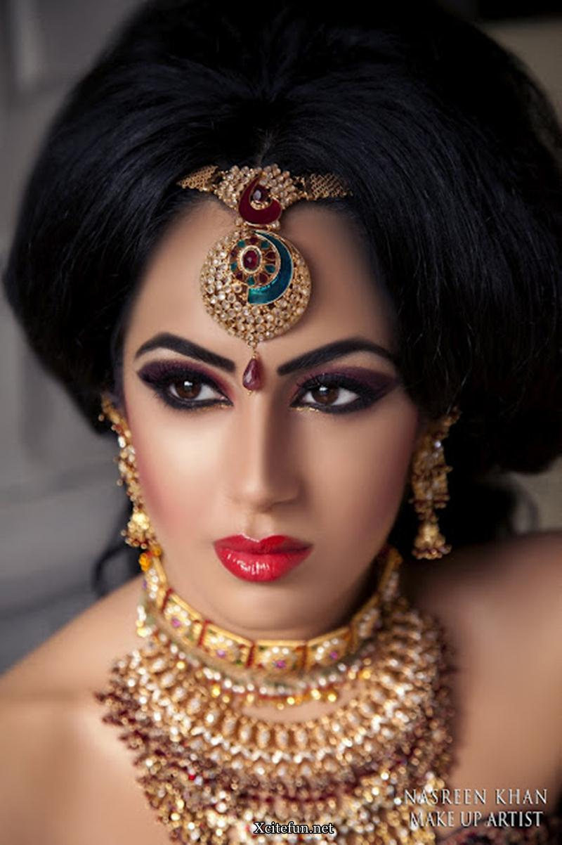 Kundan Gold Bridal Jewelry Makeup By Nasreen Khan