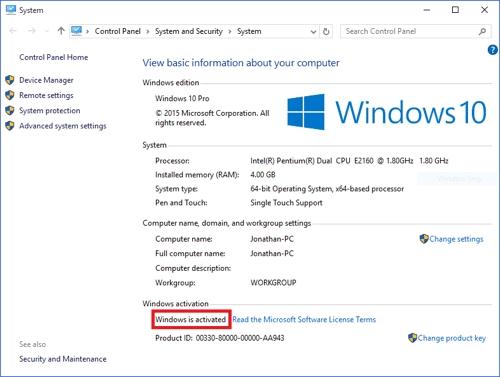Активированная Windows 10 доступна пиратам